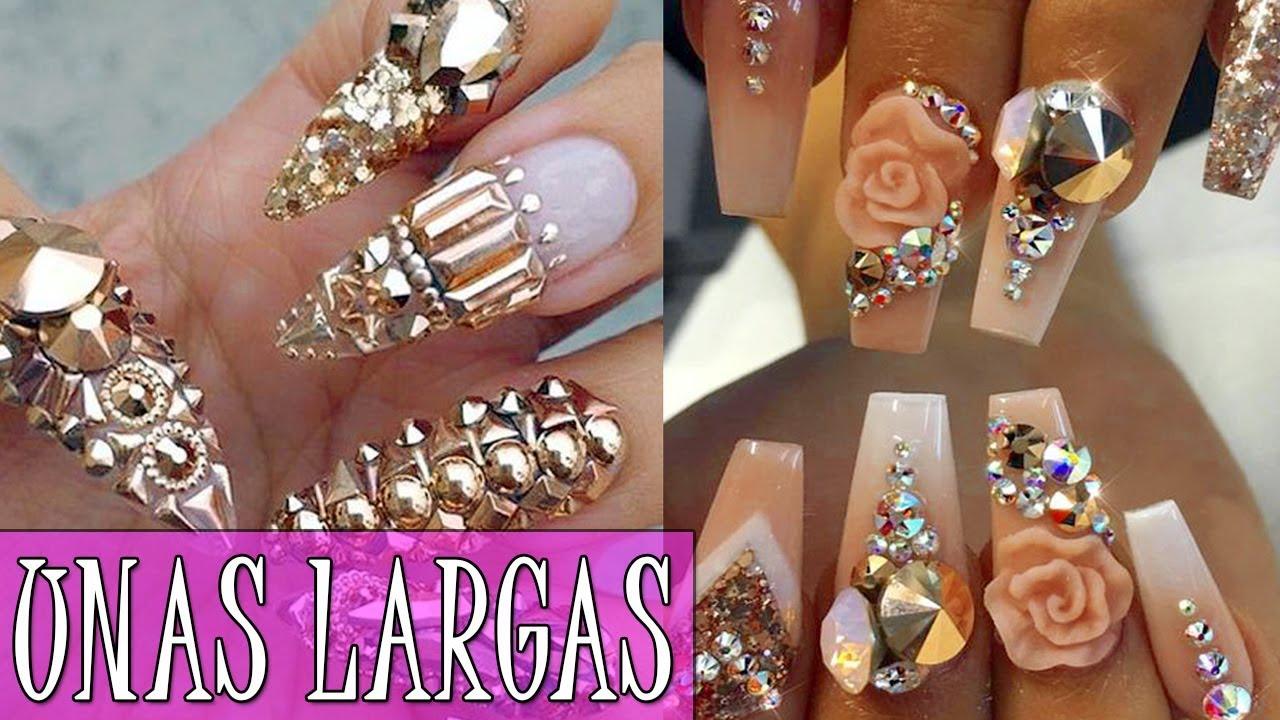 Manicura Uñas Largas Uñas Decoradas De Moda 2017 2018 Long Nails