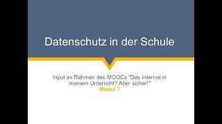 [SIMOOC] Konrad Lachmayer über Datenschutz in der Schule