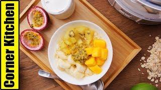 夏日早餐「燕麥水果優格」身體也跟著輕盈了!| Yogurt, Fruit u0026 Oats Breakfast [角落廚房|Corner Kitchen]