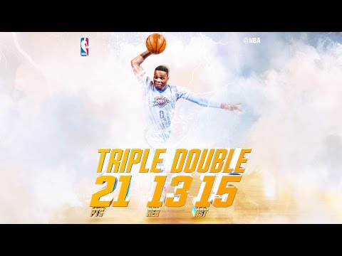 Russell Westbrook Posts NBA-Leading 15th Triple-Double