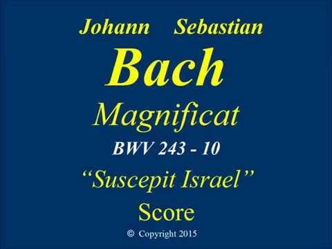10 - JS Bach Magnificat - Suscepit Israel - Score