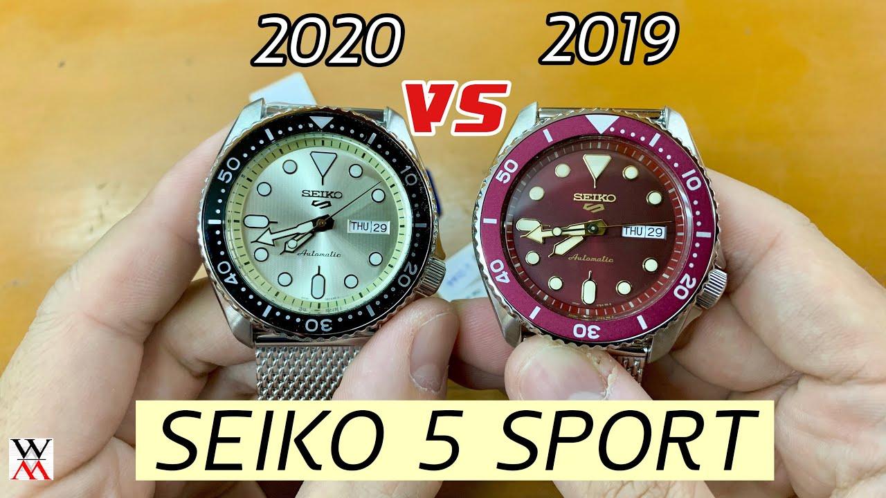 ใหม่ !! 2020 Seiko 5 Sports VS 2019 SRPE75K1 - Wimol Tapae