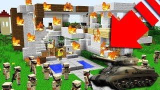 ASKERİ ORDU YENİ EVİMİ YIKTI! 😱 - Minecraft