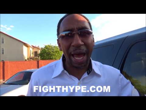 STEPHEN A. SMITH GIVES EPIC TAKE ON MAYWEATHER VS. MCGREGOR; INSISTS MCGREGOR NEEDS TO PRAY