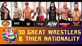 30 Great Wrestlers around the World & their nationality 2020 |…