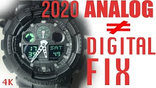 How to sync Analog and Digital time on your Casio G Shock - 4K -