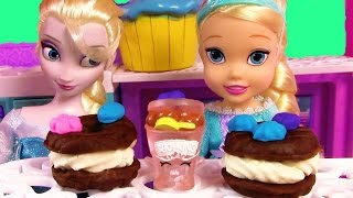 Disney Frozen Queen Elsa Toddler Playdoh Ice Cream Sandwiches Sweets Food