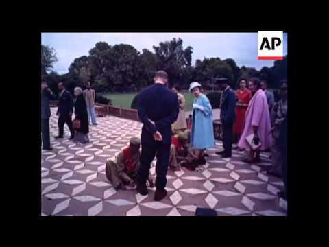 Royal Visit to Taj Mahal - 1961
