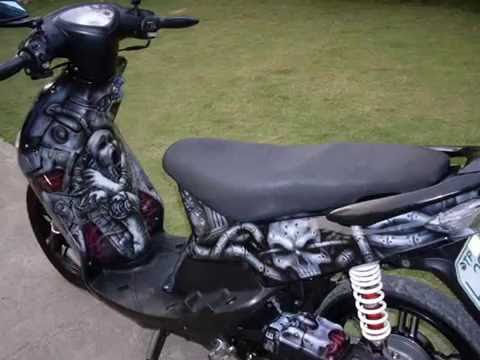 AIRBRUSH YAMAHA MIO BIOMECHA DESIGN YouTube - Mio decalsmioonepiece youtube