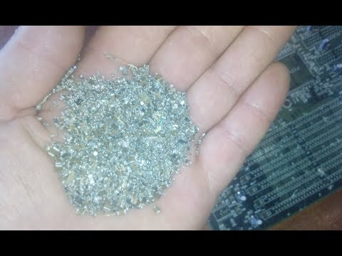 Paladium And Silver Recovery & Refining From MLCC Part 1