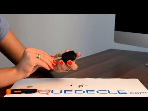 Télécommande coque de clé 2 boutons Citroen C1,C2,C3,C4,C5,