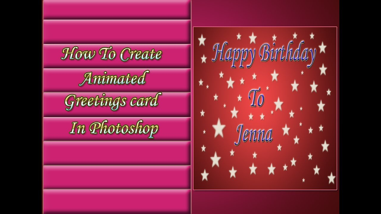 How To Create A Animated Greeting Card In Photoshop