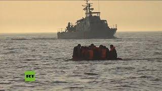 Rescatan a varios inmigrantes que cruzaron el Canal de la Mancha hacia el Reino Unido