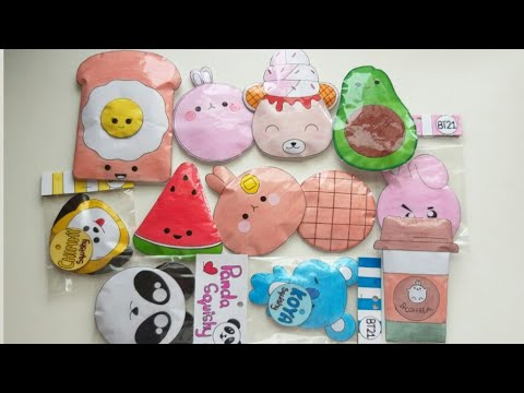 Homemade paper squishy collection 2019 #1
