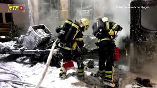 Fahrzeugbrand in der Altstadt Reutlingen