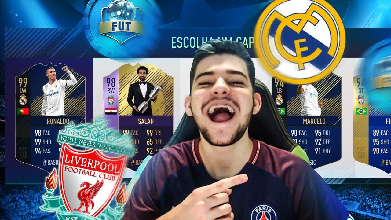 FUT DRAFT DA FINAL DA CHAMPIONS!!! REAL MADRID vs LIVERPOOL!! FIFA 18 - YouTube