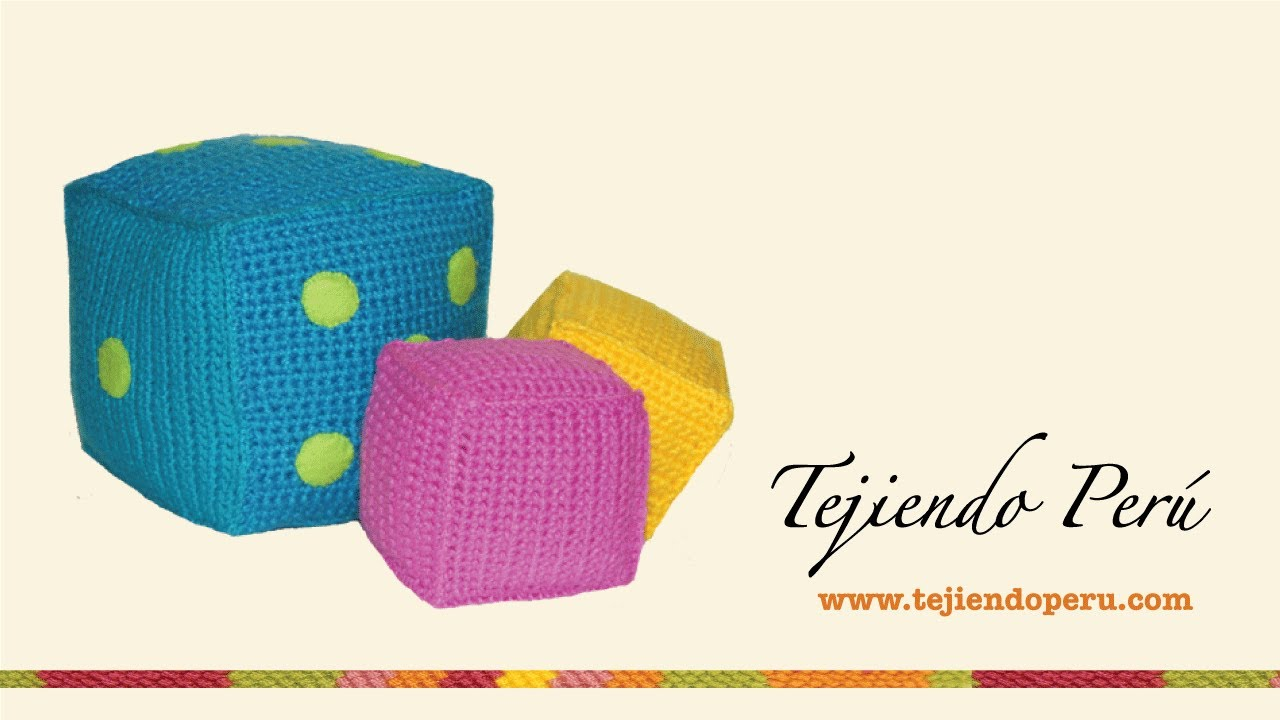 Cubos para niños tejidos a crochet - YouTube