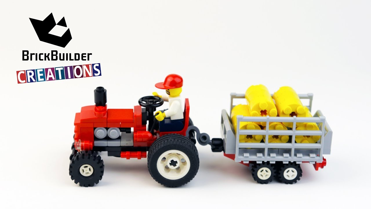 Lego Tractor Trailer : Lego city moc tractor and trailer pcs brick builder