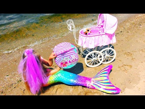 real-mermaid-baby-!?-story-about-mermaid-tail-and-new-lol-dolls-!-video-for-children
