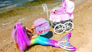 REAL MERMAID BABY !? Story about Mermaid  tail and new LOL DOLLS ! Video for children