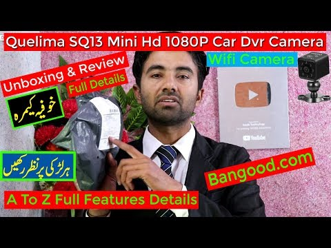 Quelima SQ13 Mini HD 1080P Car Dvr Camera Wifi Camera Unboxing & Review Full details