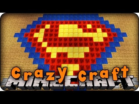 Minecraft Mods CRAZY CRAFT 20 Ep 34 SUPERHERO HALL