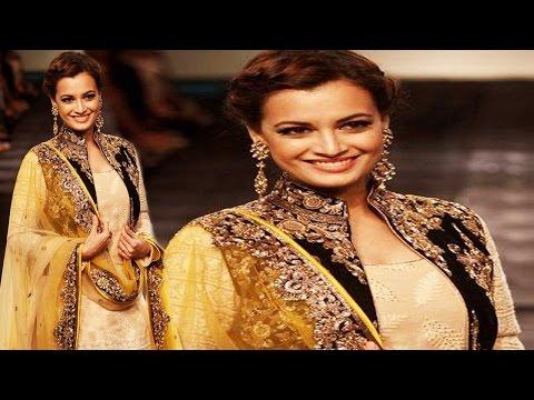 Dia Mirza Look Beautiful In Yellow Milky...
