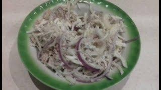 Салат из редьки, просто и быстро. Новогоднее блюдо, легкое и вкусное