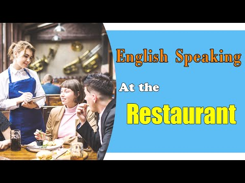 ENGLISH CONVERSATION  AT THE RESTAURANT - THINGS YOU MAY NOTICE