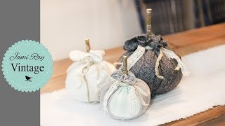 How To Make A Fabric Pumpkin | Farmhouse | Recycled Fabric