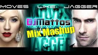 Maroon 5 ft  Christina Aguilera   Moves Like Jagger DJ Mattos Mix Mashup