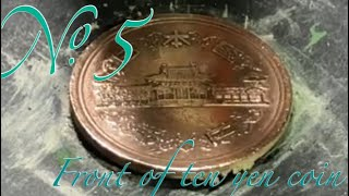 No.5 20000 гЂђCoin PolishгЂ'Front Of Ten Yen Coin Made in 1975 гЂђFifthгЂ'