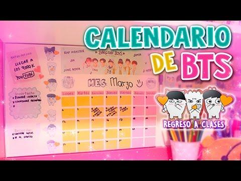 Diy kpop crea tu propio calendario organizador de bts - Como hacer tu propio calendario ...