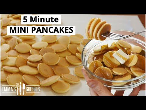 5 Minute MINI PANCAKES! Pancake Cereal! Mini Pancakes Recipe