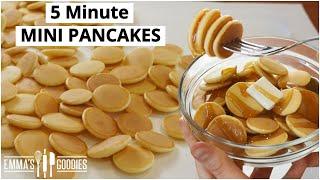 5 Minute MINI PANCAKES ! Pancake Cereal !  Mini Pancakes Recipe