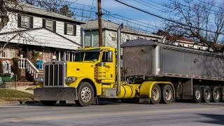 Peterbilt 389 Dump Trailer with Loud Jake Brake!