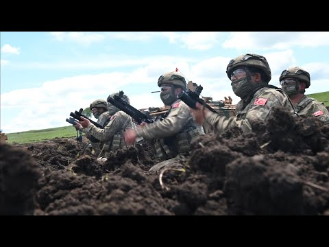Turkish Army conducted a live fire exercise combat training in Exercise Steadfast Defender 2021