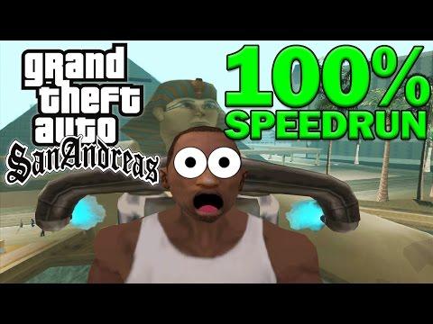 Grand Theft Auto: San Andreas 100% Speedrun