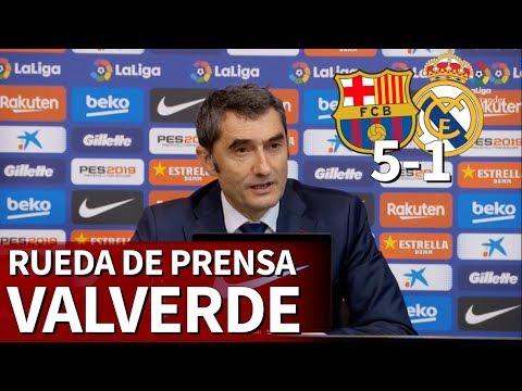 Barcelona 5 Real Madrid 1 | Rueda de prensa de Valverde | Diario AS
