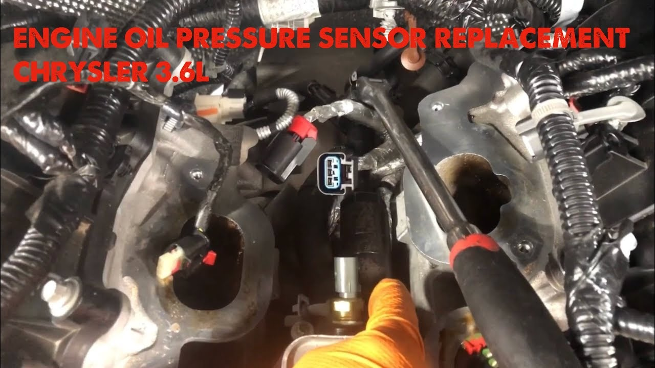 Engine Oil Pressure Sensor Replacement Chrysler 3.6L on