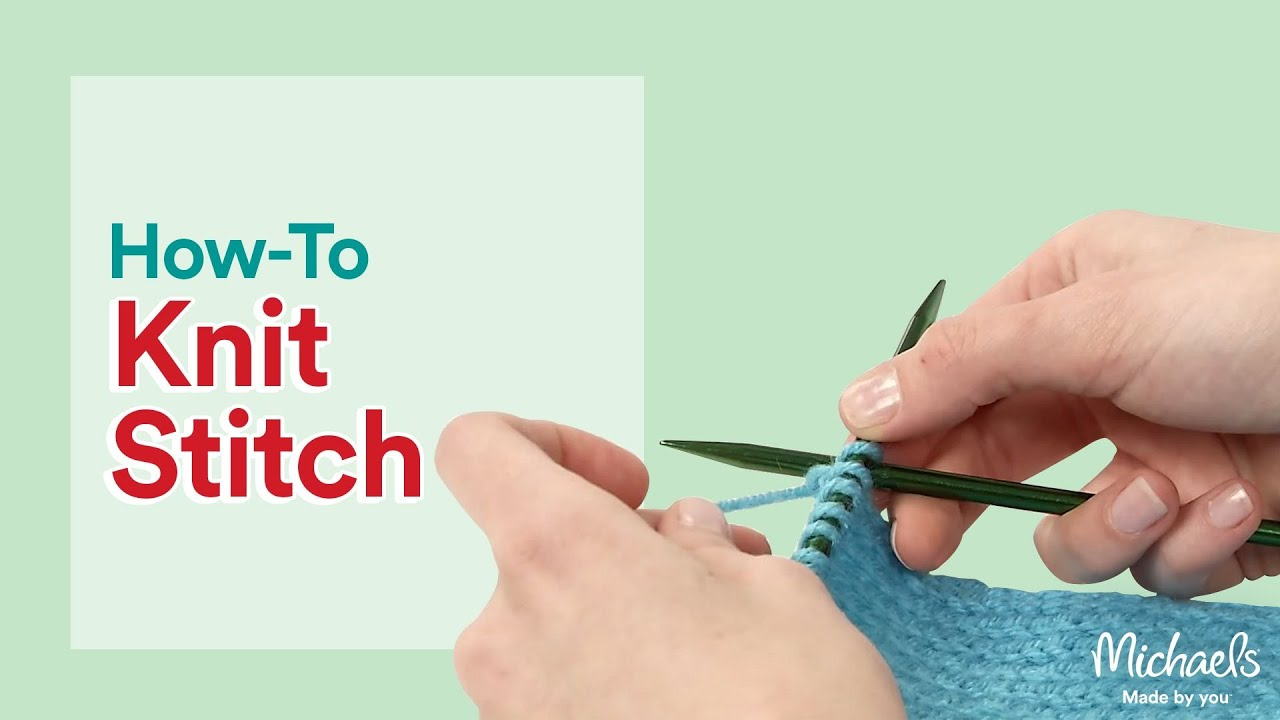 How to Knit: Learn the Knit Stitch | All Things Yarn | Michaels