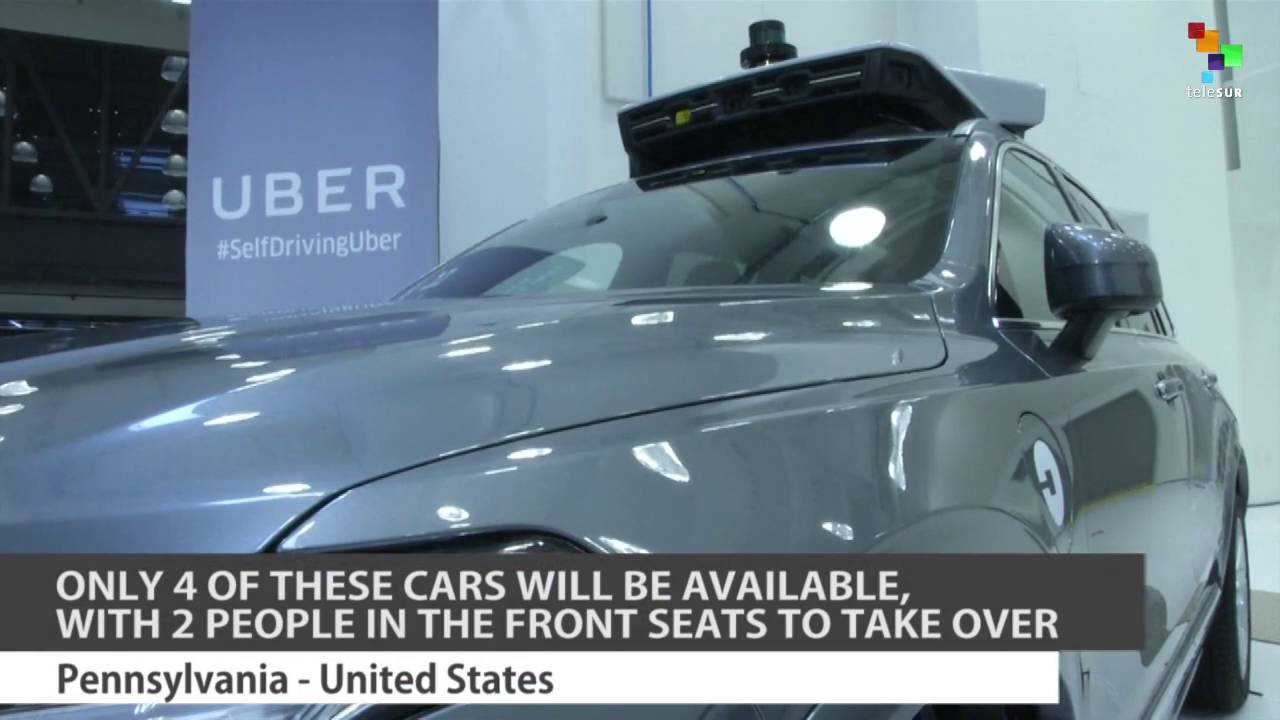 Uber Rolls out Self-Driving Cars in Pittsburgh - YouTube