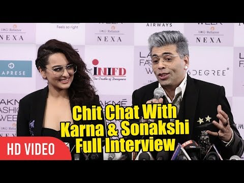 Karan Johar And Sonakshi Sinha Full Interview | Lakme Fashion Week 2018 | LFW 2018 Day 03