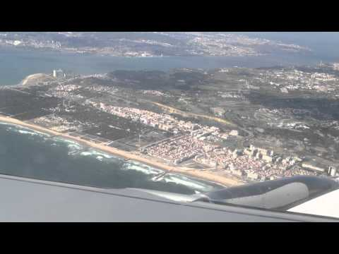Landing in Lisboa Airport