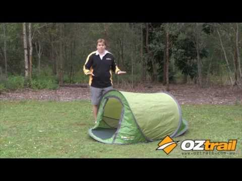 & OZtrail Pop Up Tent Setup u0026 Pack Up - YouTube