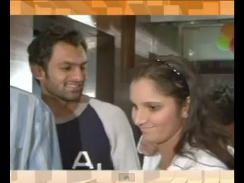 Sania Mirza and Shoaib Malik caught in action!