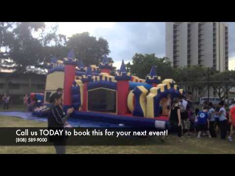 60ft Ali'i Castle Combo Obstacle Course from Hi Jump Rentals (808) 589-9000