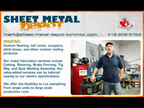 Sheet-metal-depot-toronto.com | Custom Roofing products, flashing, tall cones, scuppers, pitch boxes