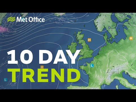 10 Day trend – Showery south, drier north 23/06/21