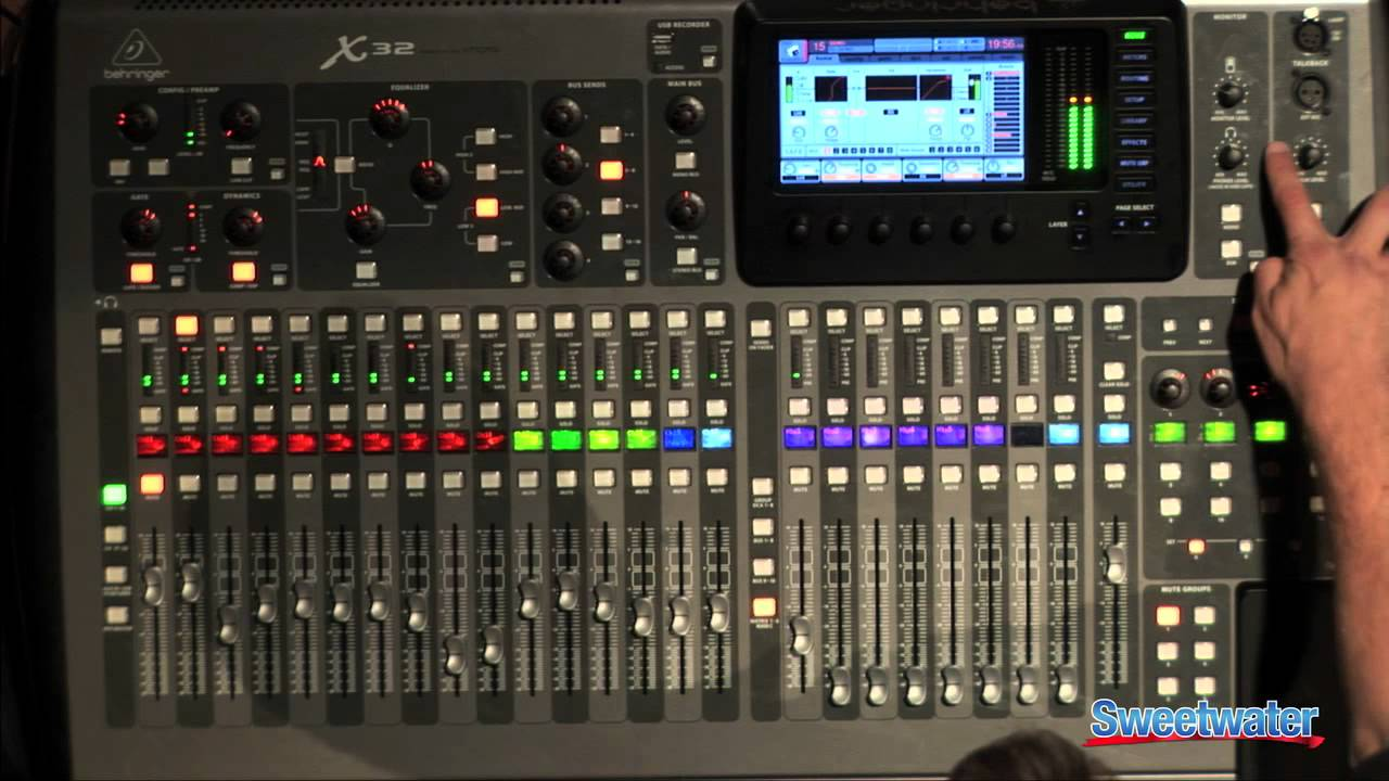 behringer x32 digital console interface overview sweetwater sound youtube. Black Bedroom Furniture Sets. Home Design Ideas
